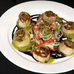 scallops with fresh fruit salad