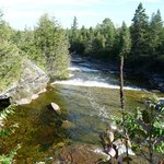 Bonnechere River with a cave on the left
