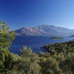View on Lake Bafa and Mt. Latmos