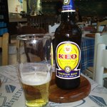 The local KEO beer