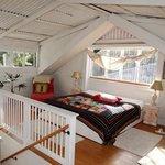 Cal King Bed in Attic Room of Sugar Shack