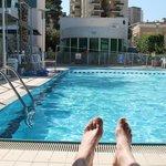 The arcadia hotel pool.
