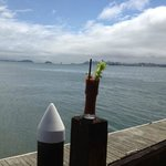 Tough to see in this shot but foreground is a great Bloody  with SF across the Bay in the backgr