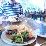 Steak sandwich and burger