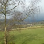 """View up the Loxley valley from """"Robin of Loxley"""" in March 2013"""