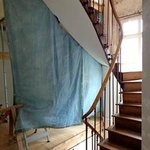 Open Construction right beside the hotel rooms - all room use this staircase more construction a