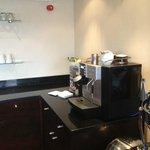 Coffee machine in Executive lounge