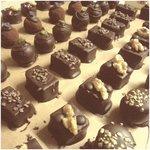 home-made chocolate praline