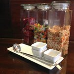 Treats in the executive lounge