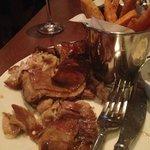 A plate full of inedible lamb