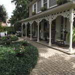 Historic Davy House Front Porch Entrance