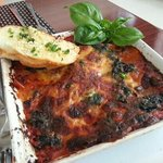 eggplant lasagna. ..worth trying not bad