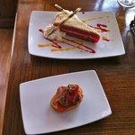 Dessert Red velvet and a light bite