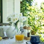 Garden Suite breakfast on the verandah