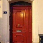 the 'hotel' door