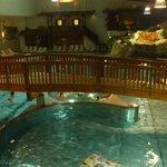 Pool with bridge