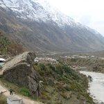 Alaknanda ganges meets Saraswati river at keshav prayag at Mana badrinath at Uttarakhand himalay