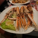 The 'scampi' langoustines - a pop @ €4 each? More appetising to look at than eat though.