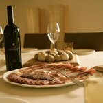 Wine tasting and antipasti