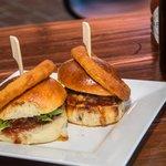 wagyu beef and cheddar mini burgers