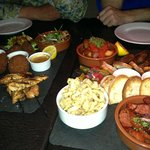 Asian and Mediterranean Platters to share