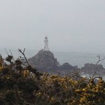 Corbiere Lighthouse emerging from the mist