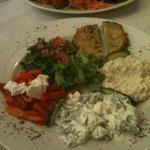 a selection of veggie mezze