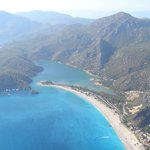 Blue Lagoon Olu Deniz from the air