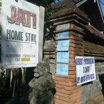 Entrance to Jati Homestay.