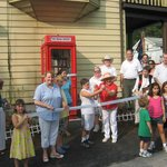 Ribbon Cutting 9/3/11 The Book Booth: America's Littlest Library Clinton Corners, NY