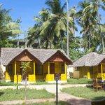 outside huts