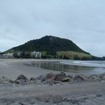 Mt. Maunganui and the beach from Leisure Hill