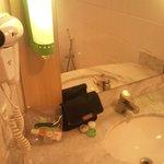 Detalhe tem secador num hotel considerado simples