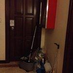 Trash outside my room.. Boutique hotel standard?