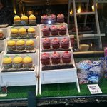 Cupcakes as well as chocs in Bruges.