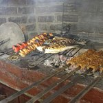 Chicken, fish and adana (while grilled)