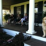 relaxing in front porch