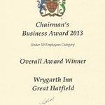 winner of the chairmans award 2013