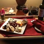 Wine and cheese sent to room