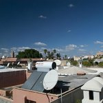 Morning view from rooftop, looking towards Koutoubia