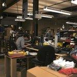 Moog Music Factory back room