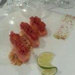 sashimi en entrée