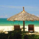 plage privée de l'hotel