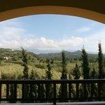 Vue de notre balcon sur les montagnes