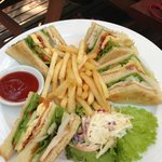 Best club sandwiches at the pool bar!
