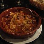 Menudo stew with ham and chorizo