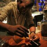 juan carlos behind the bar