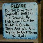 Funny sign at bar