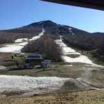 View of Jay Peak from room 406 in Tram Haus