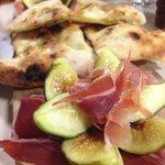 Prosciutto and figs antipasto
